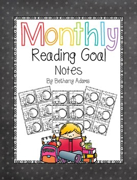 Monthly Reading Goal Notes ***Low Prep***