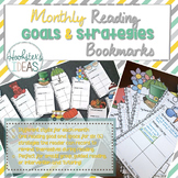 Monthly Reading Goal & Strategy Bookmarks