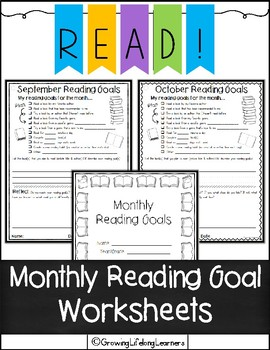 Monthly Reading Goal Worksheets