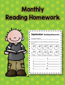 Monthly Reading Homework