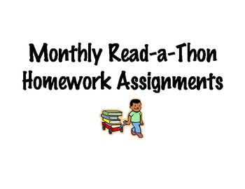 Monthly Reading Homework--Read-a-thon!