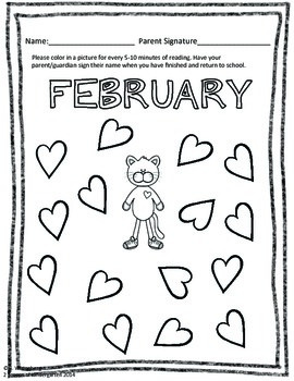 Monthly Reading Incentives with (Editable) Parent Letter