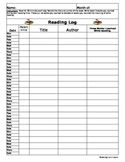Reading Log (Monthly)
