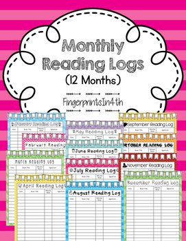 Monthly Reading Log (12 Months)