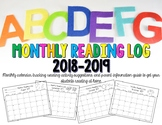 Monthly Reading Log – Minute tracking, Reading Activity Op