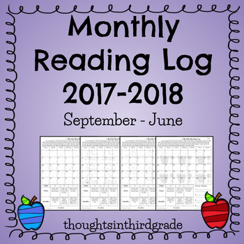 Monthly Reading Log 2017-2018