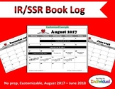 Monthly Reading Log Calendar 2017-2018