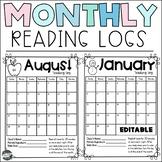 Monthly Reading Log Calendars (EDITABLE)