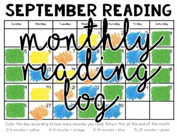 Monthly Reading Log {Color By The Minute}