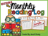 Monthly Reading Log: Editable & Includes 12 Monthly Themes (+ one non-themed)