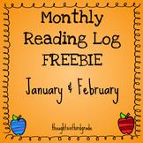 Monthly Reading Log FREEBIE