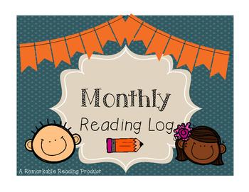 Monthly Reading Log Freebie