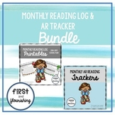 Monthly Reading Log (Seasonal K-2) and AR Tracker Bundle