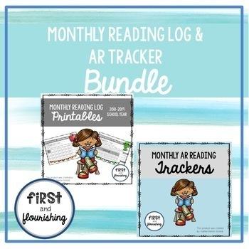Monthly Reading Log (Seasonal K-2) and AR Tracker Bundle