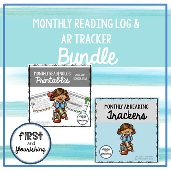 Monthly Reading Log (Seasonal K-2) and AR Tracker Bundle- Updated for 2019-2020