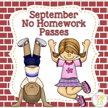 March No Homework Passes Free