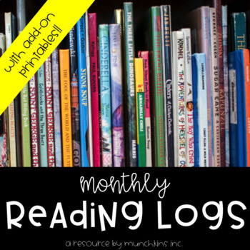 Monthly Reading Logs {With Add-On No Prep Printables!}