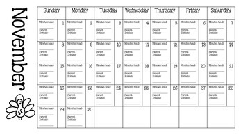 Monthly Reading Logs 2015-2016