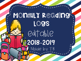 Monthly Reading Logs 2018-2019 EDITABLE