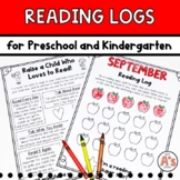 Monthly Reading Logs for Preschool and Kindergarten