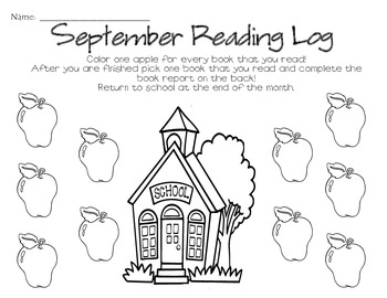 Monthly Reading Logs & Book Reports
