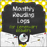 Monthly Reading Logs for Elementary Readers {Grades 3-6}