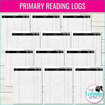 Reading Logs for Elementary Students | Grades K-6