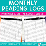 Monthly Reading Logs | Grades K-6