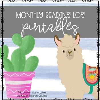 Monthly Reading Logs (Llama and Cactus)