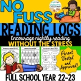 Monthly Reading Logs- Full Year, Reading Logs