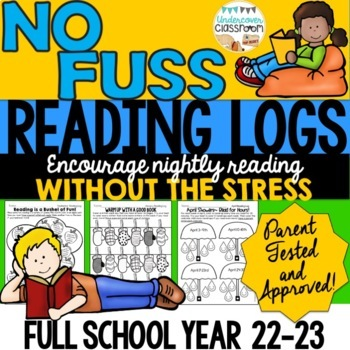 Monthly Reading Logs- Full Year