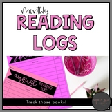 Monthly Reading Logs - Perfect for Reading Homework!