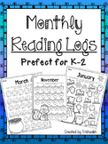 Monthly Reading Logs PreK-2