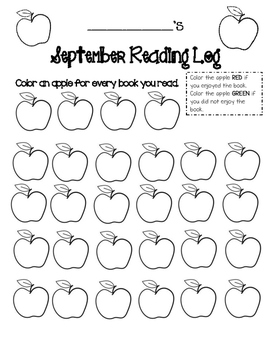 Monthly Reading Logs - Primary