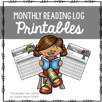 Monthly Reading Logs (Seasonal)