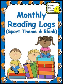 Monthly Reading Logs ~ Sport Theme