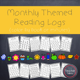 Monthly Themed Reading Logs {Color by Book or Minute}