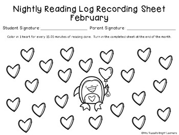 Monthly Reading Logs - Two Ways