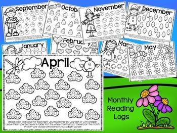 Monthly Reading Logs and Homework Helpers