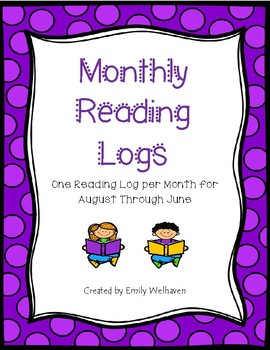 Monthly Reading Logs for August Through June