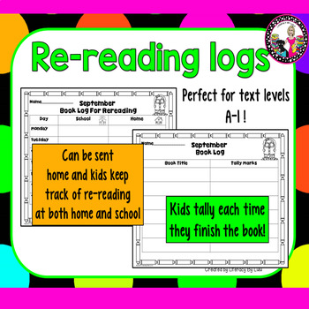 Monthly Reading Logs for Every Learner!  Levels A and Beyond!