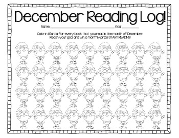 Monthly Reading Logs for Tracking Books Read