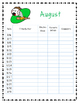Monthly Reading Logs (minutes read)