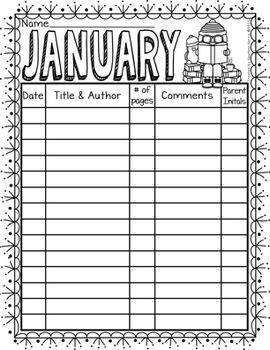 Monthly Reading Logs {read, record and color}