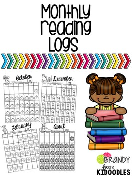 Monthly Reading Logs with Dates for 2017-2018