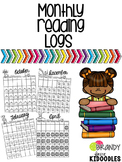 Monthly Reading Logs with Dates for 2017-2019