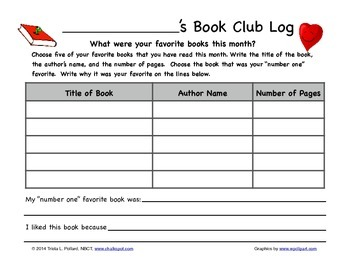 Monthly Reading Logs: Reading Response (CCSS Aligned)