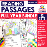 Monthly Reading Passages Bundle - Read & Graph, 6+ Skills