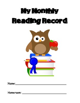 Monthly Reading Record Log