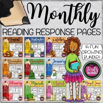 Monthly Reading Response Activities for Any Book (A Growing Bundle)